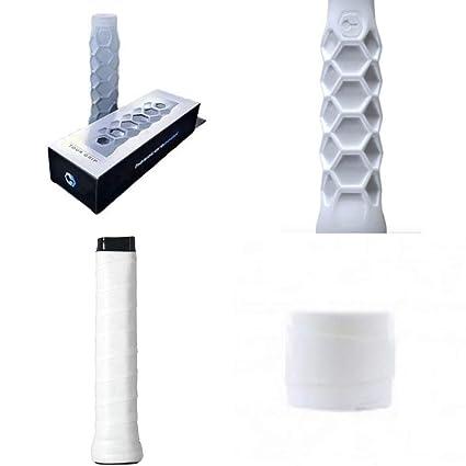 ZRZ Pack Grip Padel HESACORE Tour Grip + 1und overgrip Wilson Pro Confort Liso Blanco Maxima Calidad