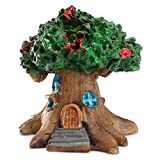 KINGSO Miniature Craft Dollhouse Decor Garden Fairy Ornament Flower Pot Plant Home DIY Micro Landscape Retro Tree House-Green