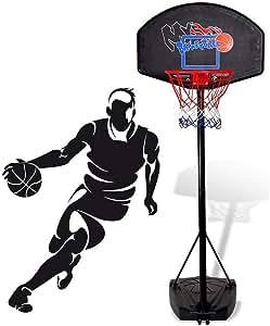 Amazon.com: ERRU - Aro de baloncesto ajustable en altura ...