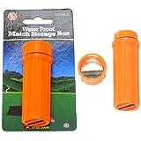 Survival Orange Water Proof Match Box, 12 Pieces