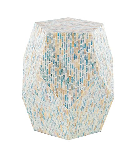 Deco 79 47334 Accent Table Off-White/Multi-Color