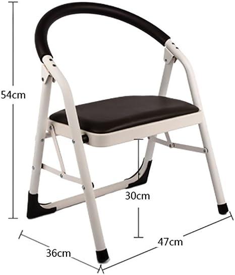 Escalera doméstica Asiento de la silla escalera plegable escalera de la casa escalón para expandir taburete de doble función multifunción, silla plegable de escalera (47 * 36 * 54cm) (Color : 1) : Amazon.es: Hogar