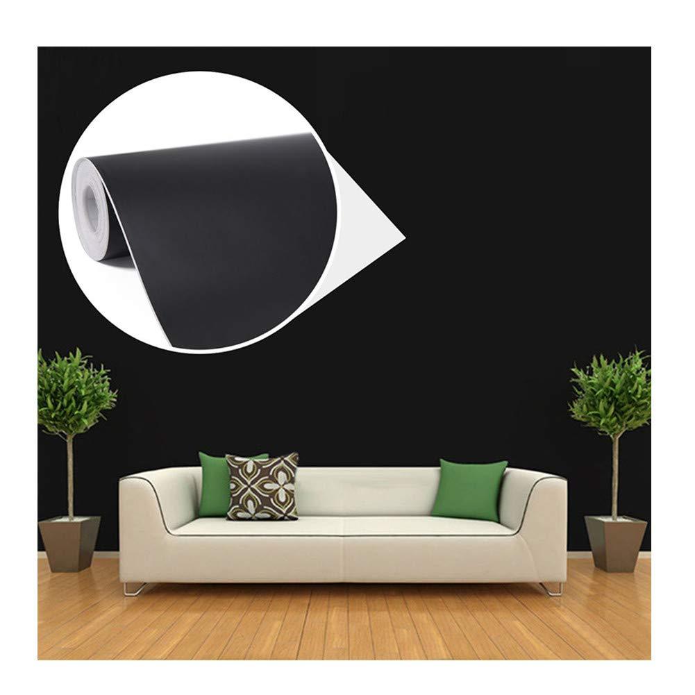 WTD - Papel pintado para pared, autoadhesivo, diseñ o de habitació n, color negro diseño de habitación Junxave