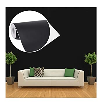 45cmx10m Impermeable Papier Peint Auto Adhesif Trompe L Oeil Stickers Autocollant Muraux Decoration Murale Pour Chambre Salon Meuble Noir