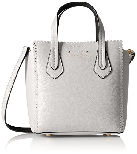 Tignanello Spring Fling Mini Tote, White/Black (Tignanello Leather Genuine)