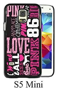 Recommended Design Phone Case Love Pink 3 Black Newest Personalized Design Samsung Galaxy S5 Mini Cover Case