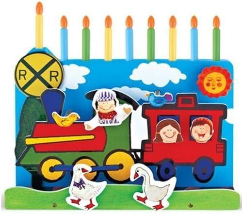Wooden Train Children/'s Play Menorah Aviv Judaica