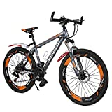 """Image of Mountain Bike, MINGDI 26"""" MTB 24 Speed Bicycle with Disc Brakes (26 INCH)"""