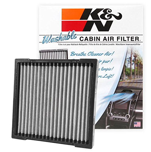 K&N VF2033 Washable & Reusable Cabin Air Filter Cleans and Freshens Incoming Air for your Honda (Air 2010 Fit Filter Honda)