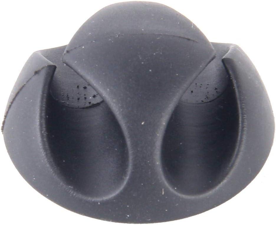 Color : Black Fixations pour lautomobile et des clips Jrc 5 PCS Double clips Trou c/âble syst/ème de gestion des c/âbles et du cordon Organisateur Solution Noir Ranger