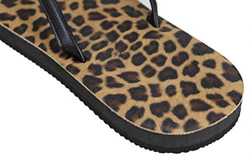 Nanxson (tm) Kvinnor Mode Enfärgad Randig Flip-flop Sandal Tx0020 Leopard