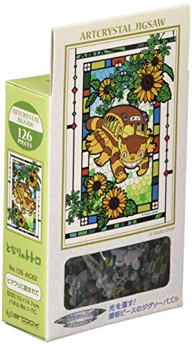 126 pieces Jigsaw puzzle Surrounded by My Neighbor Totoro sunflower ?Art Crystal Jigsaw? (10 x 14.7 cm)
