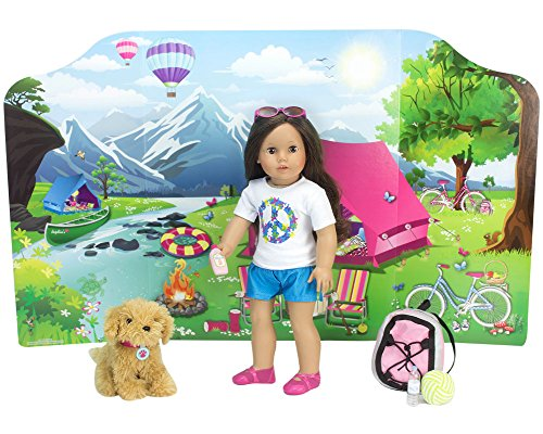 18 Inch Doll Playscene, Reversible Camping and Fashion