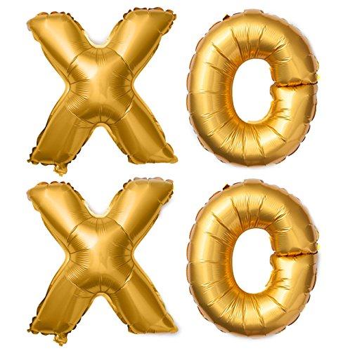 [해외]부유 XOXO 풍선 웨딩 파티 장식 16 인치/Non-Floating XOXO Balloons Wedding Party Decorations 16 inch