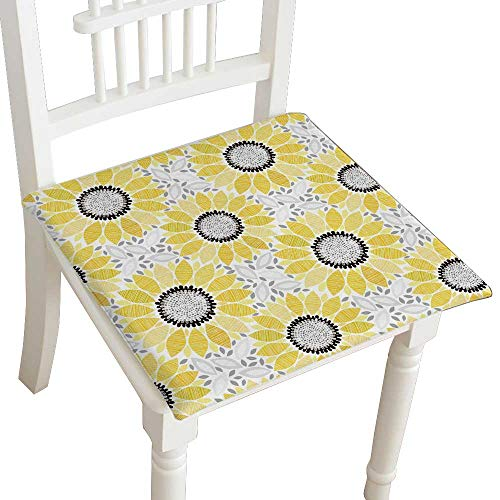 Indoor/Outdoor All Weather Chair Pads Flowers on Bright Seat Cushions Garden Patio Home Chair Cushions 28