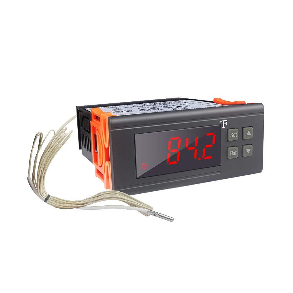 KT8230 Digital Thermostat 120VAC 30A Fahrenheit Temperature Controller Regulator -22~572℉ Heating Cooling for Incubator Brooder Refrigerator Fermenter Greenhouse: Industrial & Scientific