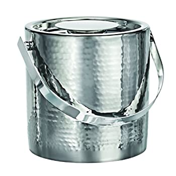 Marquis By Waterford Vintage Stainless Steel Ice Bucket With Tongs 0