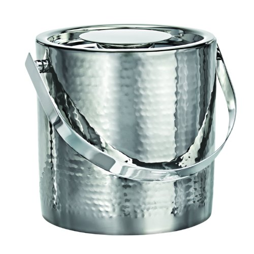 - Marquis by Waterford Vintage Stainless Steel Ice Bucket with Tongs