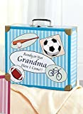 Carol Wright Gifts Going to Grandma's Suitcase, Blue