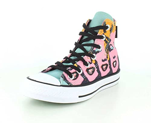 4a4e91778fbb45 Converse Unisex Chuck Taylor All Star Andy Warhol Marilyn Monroe High Top  Lichen Orchid Smoke White Sneaker - 4 Men - 6 Women  Buy Online at Low  Prices in ...