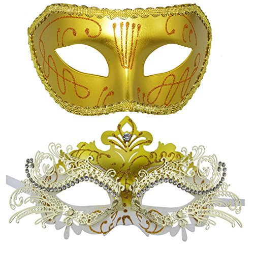 New and Old Mountain Couple Masquerade Mask Venetian Halloween Costume Mask Mardi Gras (Halloween Fancy Dress For Couples)