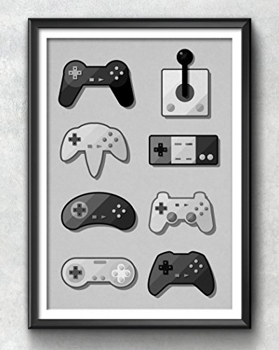 Game Pad Print, Gaming Poster, Gaming Art, Gaming Wall Art, Gaming Print, Gaming Illustration, Vintage, Gaming Decor, Retro, Hipster, - Hipster Gamer
