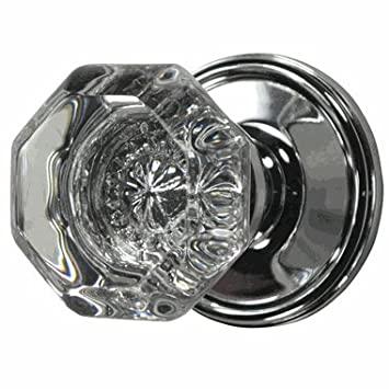 Nice Providence Octagon Crystal Door Knob Set With Victorian Plate Rosette In  Polished Chrome (Privacy Bed
