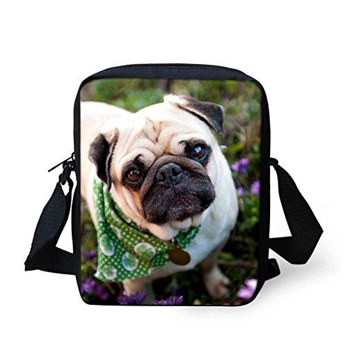 Crossed Bag Kawaii Pug Small For Pug Kawaii Hugsidea Green Woman RtnTwWYF1