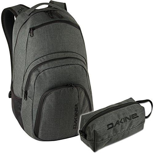 DAKINE 2er SET Laptop Rucksack CAMPUS LG + ACCESSORY CASE Mäppchen Carbon xPcG93c0wk