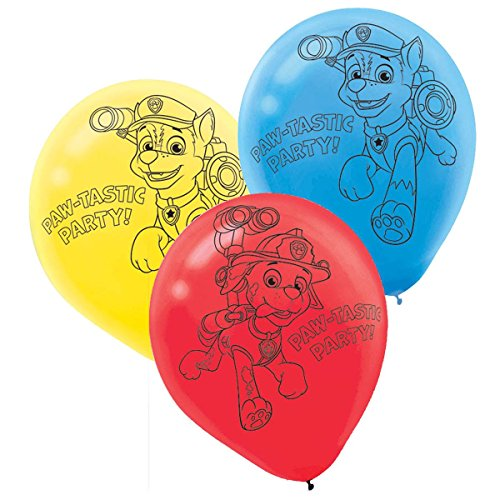 [PAW Patrol Printed Latex Balloons (6)] (Costume Party Ideas)