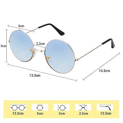 Schimer - Gafas de sol estilo hippie para hombre, estilo retro, con marco de aleación