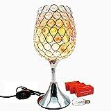 Kimisky Himalayan Salt Lamp,Crystal salt lamp with Pink Salt Chunks,Bulb And Dimmer Control,Pink Large salt lamp, Night Lght Decorative Lights (5-5.5 lbs)