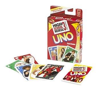 Mattel Disney - Baraja de cartas Uno, diseño de High School ...
