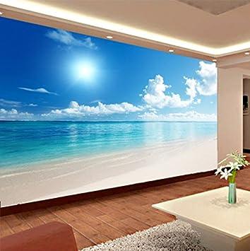 Weaeo Papel Pintado Mural Personalizado 3D Vista Al Mar Cielo Azul ...
