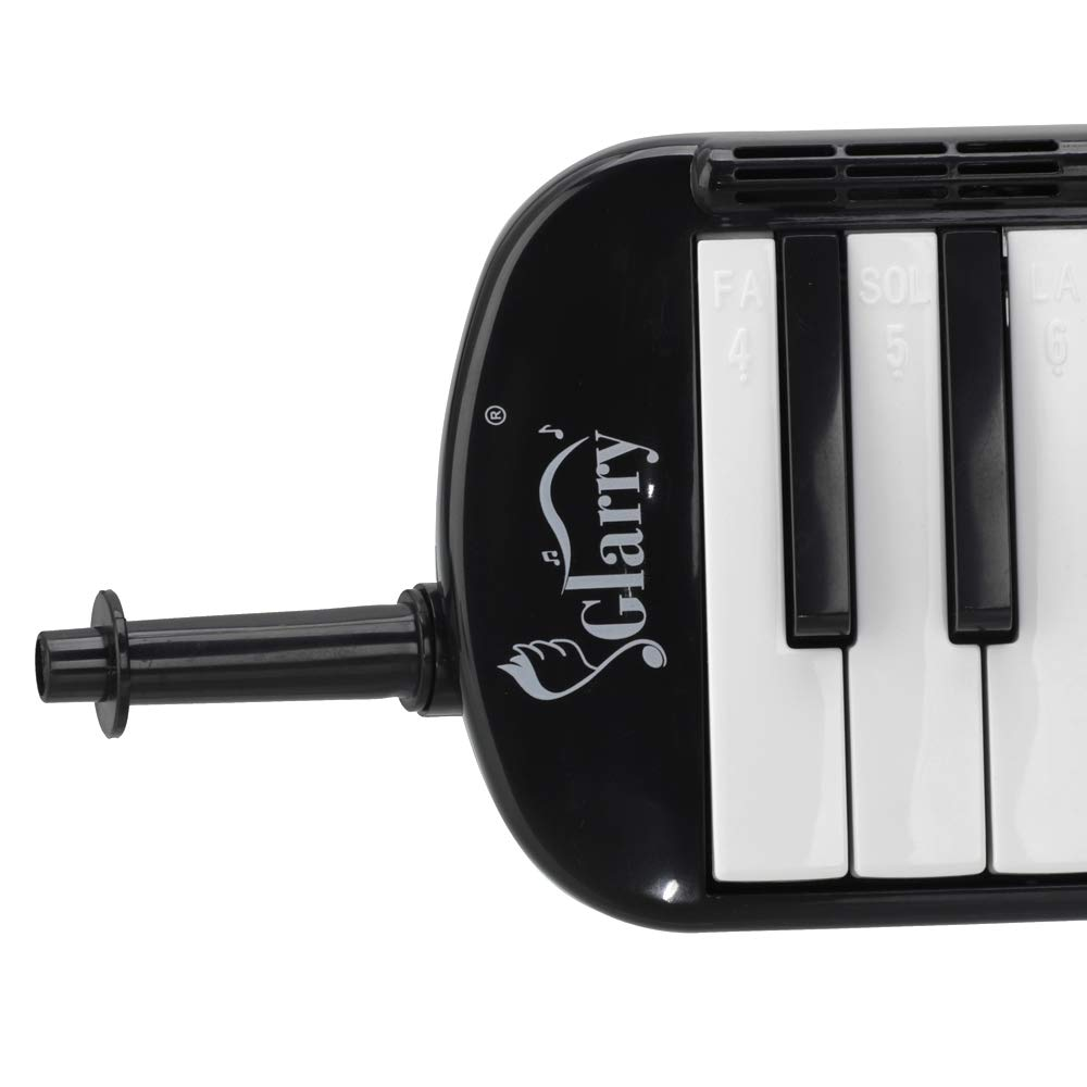 Glarry 37 Key Melodica Instrument Keyboard for Music Lovers with Mouthpiece with Hose Bag Black (37-key, Black) by Crownstar (Image #6)