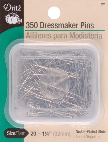 - Dritz 22 350-Piece Dressmaker Pins, 1-1/4-Inch