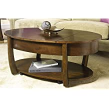 Hammary Concierge Oval Lift-Top Cocktail Table W/ Casters