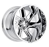 HOSTILE Switchblade Chrome Wheel with Chrome Finish (20x9'', 6x5.5''/6x139.7mm, 0mm offset)