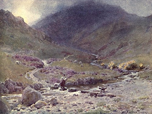 Posterazzi Wild Lakeland 1922 Stepping-stones Far Easdale Grasmere Poster Print by A. Cooper (24 x 36)