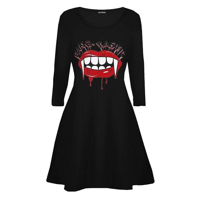 9bf7a2f73e05 Kleider Damen Pullover Kleid Elegant Brautjungfernkleid Petticoat Lange  Ärmel Hepburn Rockabilly Herbst Winter, Vampir Horror Blood Halloween  Kostüm Swing ...