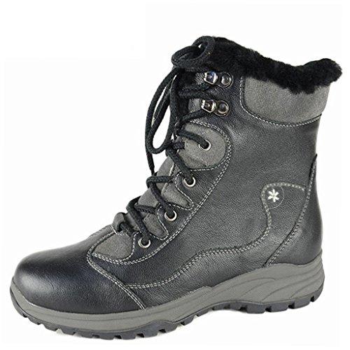 Warmer Fully Boots Bull Fur Titan Zippered Women's Lined Black Winter EgUqBw0Ux