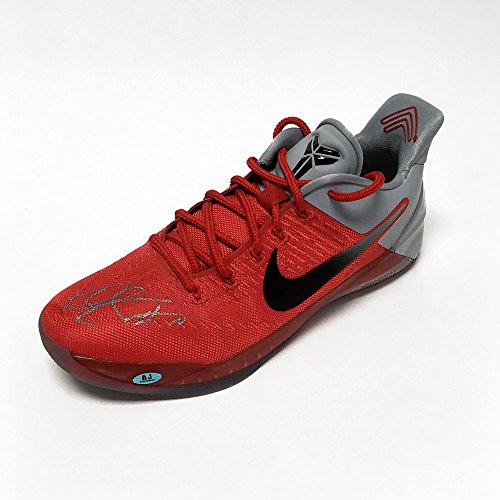 AJ Sports World Demar DeRozan Autographed Game Used Nike Kobe Zoom Red Basketball -