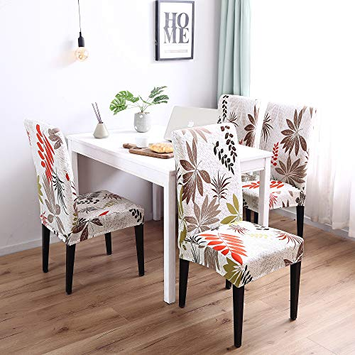 Price comparison product image Enova Home Modern Elegant Polyester and Spandex Stretch Washable Removable Dining Chair Slipcover,  Soft and Stretchy Slipcover (4