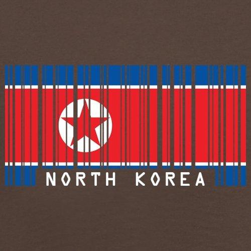 North Korea / Nordkorea Barcode Flagge - Herren T-Shirt - Schokobraun - M