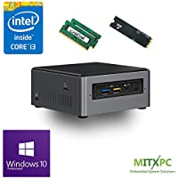 Intel BOXNUC7i3BNH Core i3-7100U NUC Mini PC w/ 32GB,512GB M.2 SSD Windows 10 Pro - Configured and Assembled by MITXPC