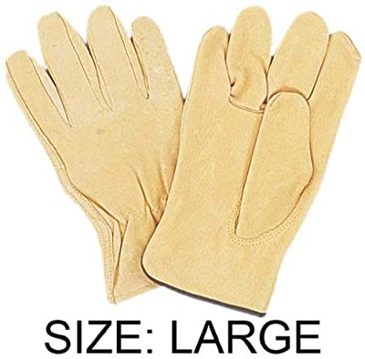 ToolUSA Men's Large Size Pigskin Unlined Drivers Gloves: GL-35000-Z02 : ( Pack of 2 Pairs )