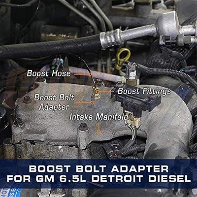 GlowShift Boost Bolt Sensor Thread Adapter for 1992-1999 Chevy GMC 6.5L Turbo Detroit Diesel Motor: Automotive