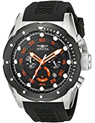 Invicta Mens 20305 Speedway Stainless Steel Watch with Black Band
