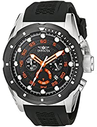 Men's 20305 Speedway Stainless Steel Watch with Black Band