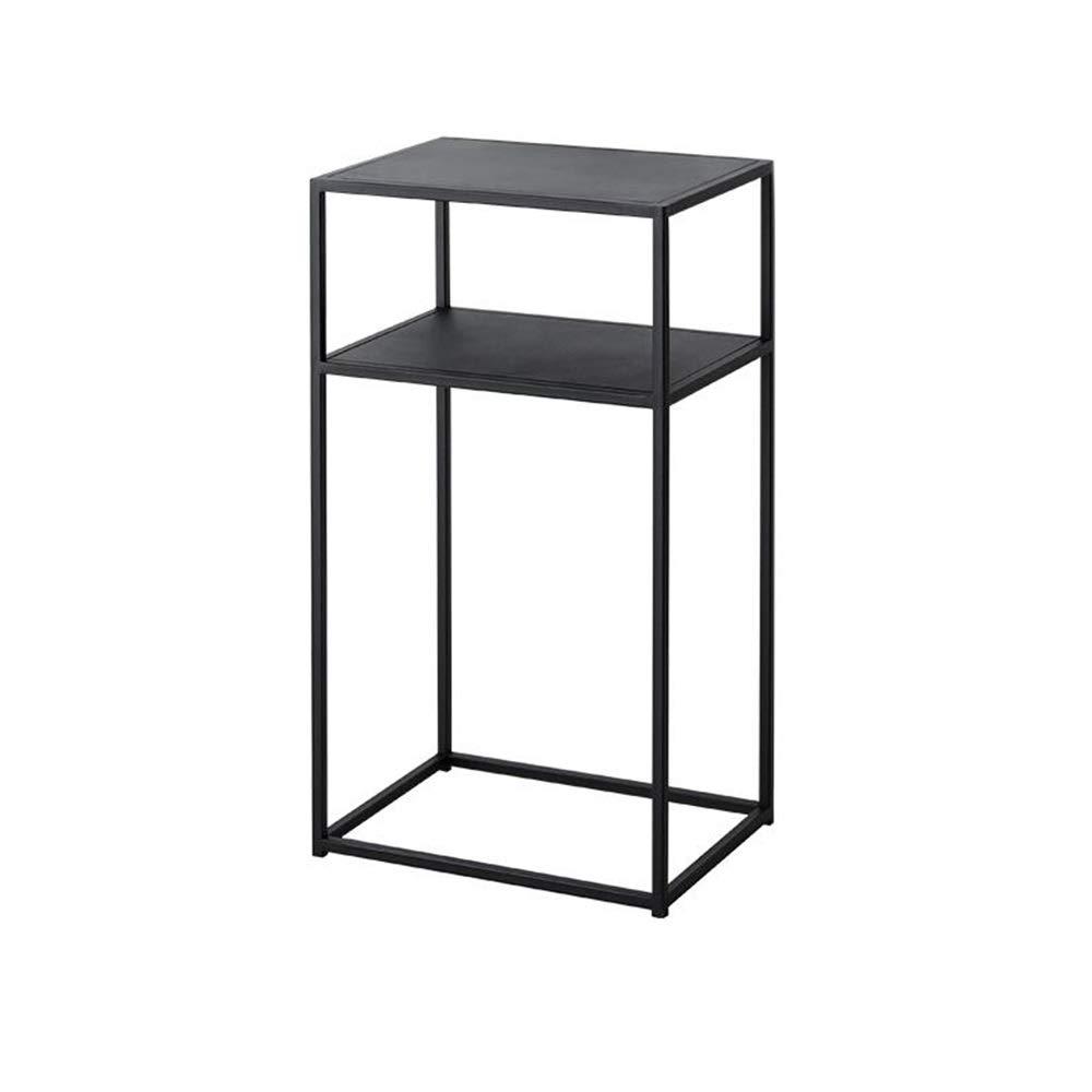 Jcnfa-Shelves 2-Layer Metal Bookcase, Bookshelf, Multi-Purpose Display Stand, Plant Shelf Garden Storage Shelf Modern Minimalist Table, Bathroom Living Room Storage Shelf, Metal Frame by Jcnfa-Shelves